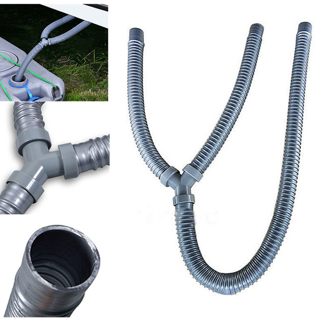 new 30mm id caravan motorhome waste water outlet y hose pipe home kitchen sink tools - Kitchen Sink Tools