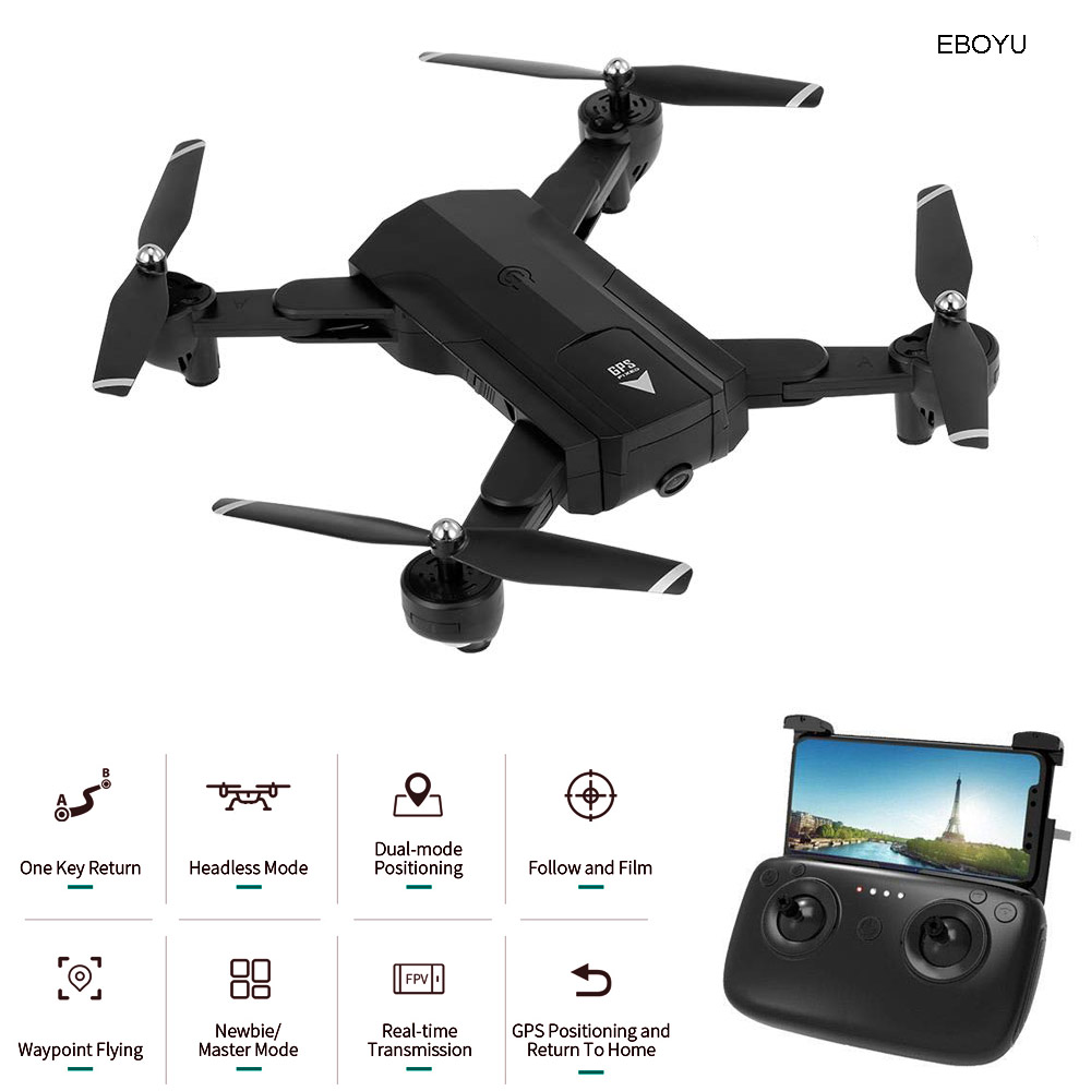 EBOYU <font><b>SG900S</b></font> RC <font><b>Drone</b></font> 1080P/720P HD Camera WiFi FPV GPS Positioning Follow Me Altitude Hold Foldable RC Quadcopter GPS <font><b>Drone</b></font> RTR image