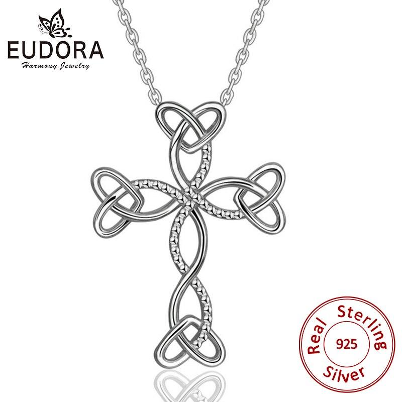 Heart Cross Pendant Sterling Silver