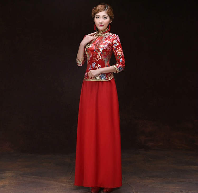 shanghai histoire robe chinoise traditionnelle femme chinois de mariage robe longue qipao. Black Bedroom Furniture Sets. Home Design Ideas