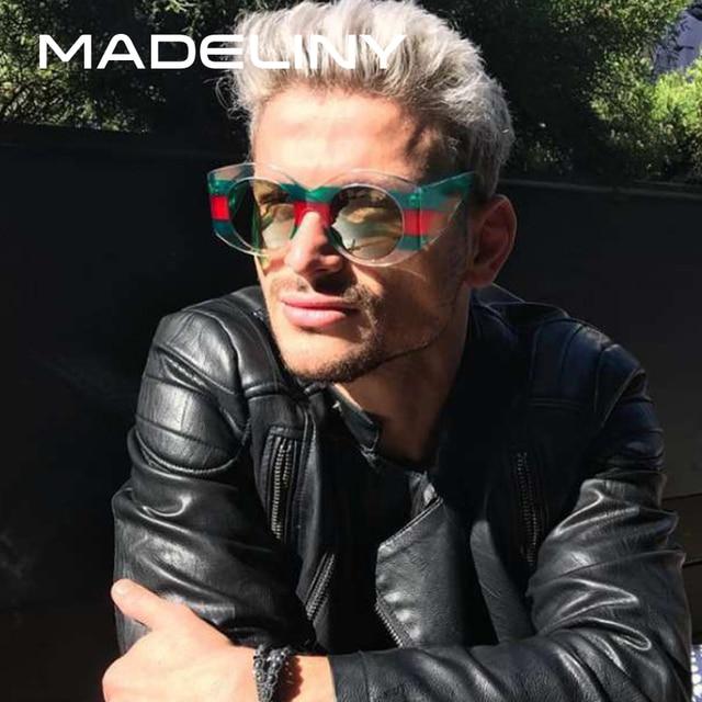 Madeliny новейшие модные женские туфли круглый Солнцезащитные очки для женщин Брендовая Дизайнерская обувь 2018 негабаритных для женщин Для мужчин Винтаж очки оттенки ma385