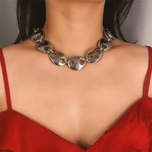 Vintage Style Metal Choker Necklace Fashion Exaggeration Choker Collar Party Punk Statement Jewelry for Women Gift цена в Москве и Питере