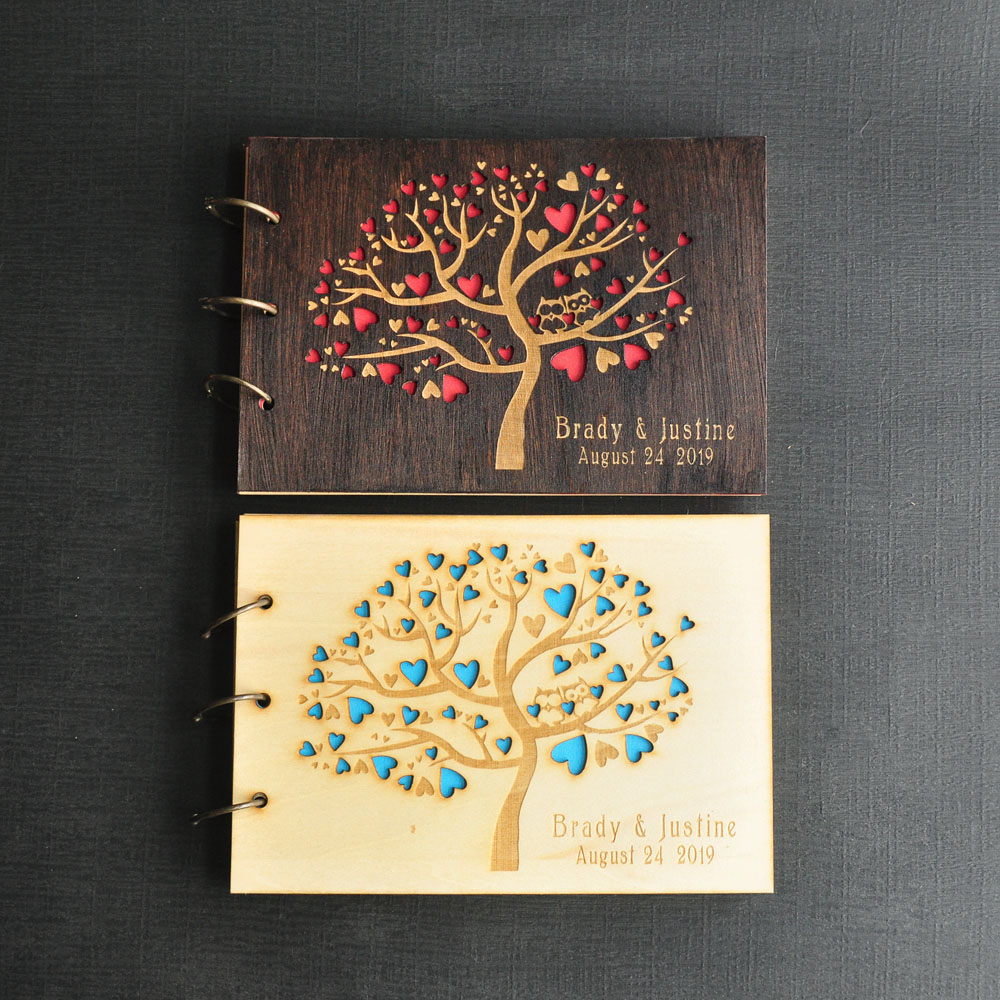 Cute Wedding Guest Book Ideas: Personalized Wedding Tree Guest Book, Cute Owls Tree