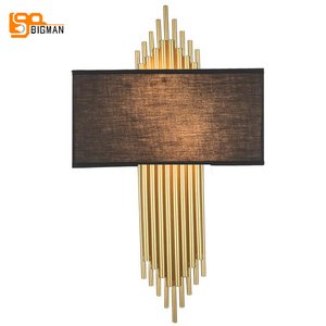 Image 4 - high quality gold wall lamp modern black white wall lights for home decor
