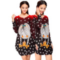 Autumn and winter explosion models, cartoon long sleeve, women's long sleeved dress code, pregnant women's skirt