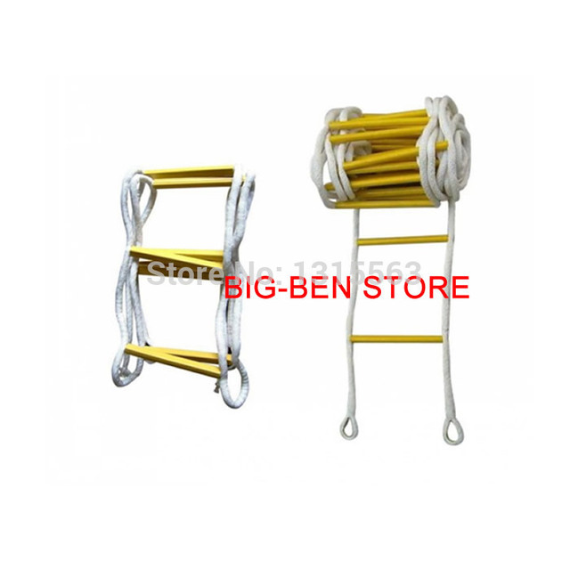 17FT (Free Safety Hook+High Strength Epoxy Resin) Rescue rope ladder ...