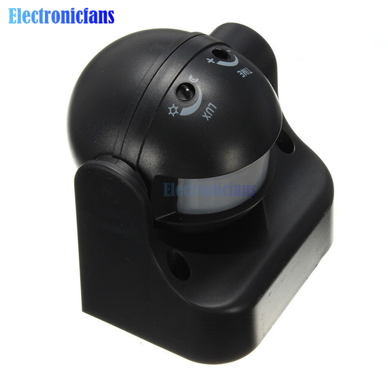 220-240V 50Hz AC 180 grad Auto PIR Motion Sensor Detektor Schalter 12 Meter Im Freien Licht Lampe schalter Schwarz