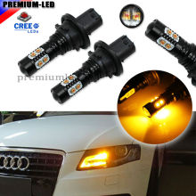 Amber Yellow Error Free PH24WY SPH24 12272 CREE LED Bulbs For Audi Cadillac GMC Porsche,etc For Front Turn Signal Lights.12V