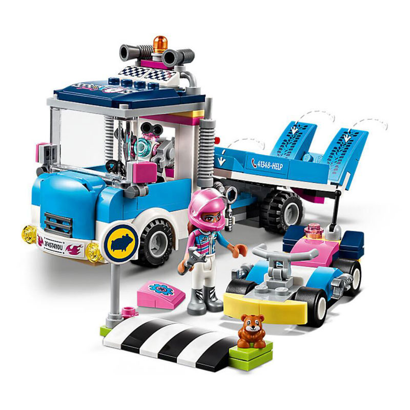 Girl Friends Heartlake City Service & Care Truck Model Building Block Bricks Toys Compatible Legoings Friends 41348 aiboully 10166 2017 new 489pcs girls friends heartlake city school building block sets assemble bricks toys compatible 41005