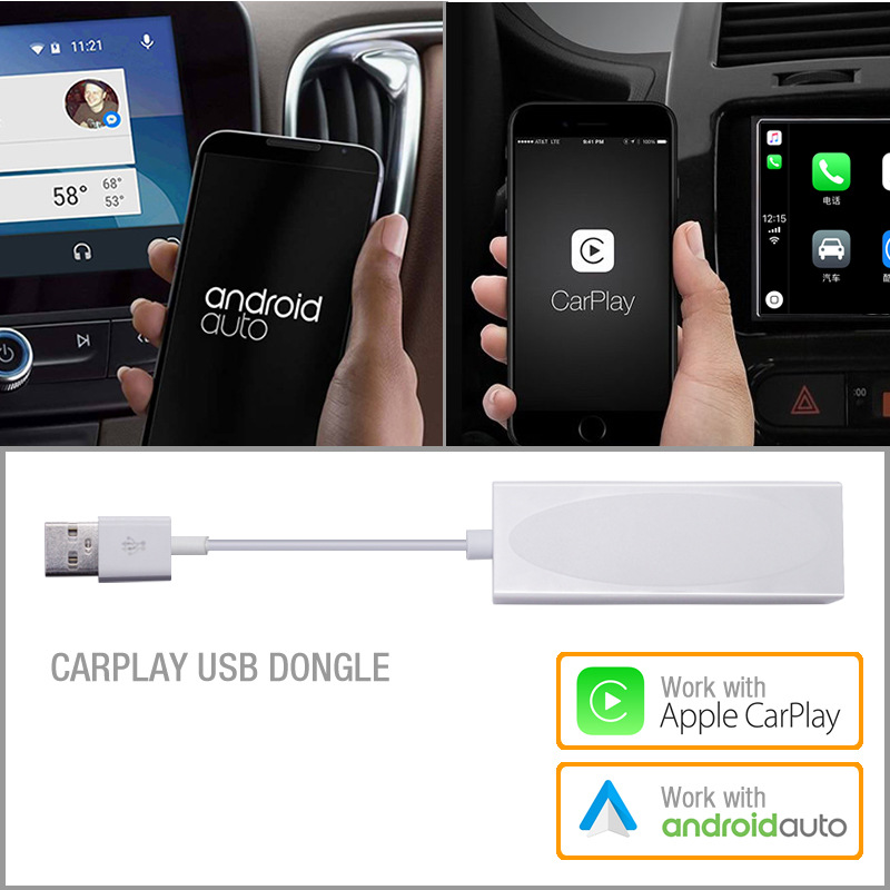 USB Dongle Travail Avec Apple iOS CarPlay Android Auto Pour Voiture Android Système Headunit Navigation DVD Lecteur radio