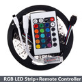 3528 RGB LED Strip 5M 300LED SMD with 24 Keys IR Remote Mini Controller Flexible LED Strip Light For Home Decoration