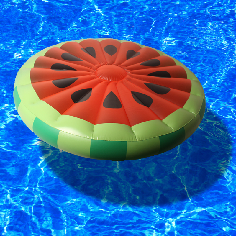 Drop ship NEW 2016 Red Inflatable Watermelon Float Pool Toy Water Sports Inflatable Floating Raft Leisure Floating Bed PVC 160CM environmentally friendly pvc inflatable shell water floating row of a variety of swimming pearl shell swimming ring