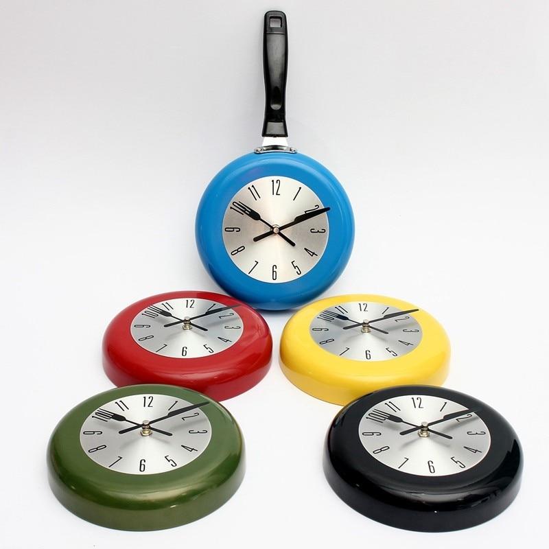 Hot Selling Colorful Kitchen Wall Clock Metal Wall Clock In Mini