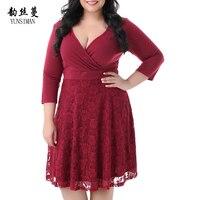 Lady Girls Clothes Dresses Women Plus Size Dress 3XL 4XL 5XL 6XL 7XL 8XL 9XL Black Red Big Size Lace Dress Women' Clothing 3C15