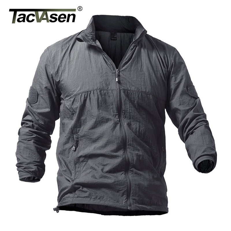 5cc79b66 Takvasen Menn Tactical Clothing Skin Army Casual Plus 5xl Militærjakke  Størrelse Thin Green Coat Dry Sommer Hooded ...