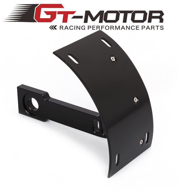 GT Motor Motorcycle Curved Rear License Plate Frame Mount Tag ...