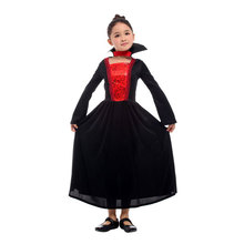 Kids Child Girls Victorian Vampiress Vampire Girl Cosplay Costume Fantasia Halloween Carnival Mardi Gras Party Dress