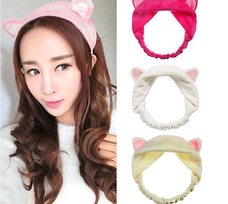 2017 New Fashion Womens Girls Cute Cat Fox Ears Headband Headwear Lady Party Gift Headdress Hair Band Accessories 6 colors dhl or ems 120pcs two color crossed milk silk headband knotted hair band lady wash headdress td 31 hair accessories