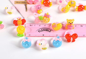 12pcs Ring For Children Jewelry Fashion Colored Multicolor Ring Cute Girls Gifts  Lovely Fruit Scrub Animal Princess Suit Kinds 3