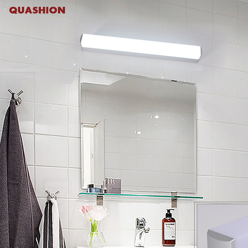 Modern Long LED Mirror Light AC90-260V Cosmetic Acrylic Wall lamp conce lighting fixtures bathroom bedroom makeup wall lights modern simple rectangle led wall lights lustre acrylic bathroom led wall lamp bedroom wall light mirror led lighting fixtures