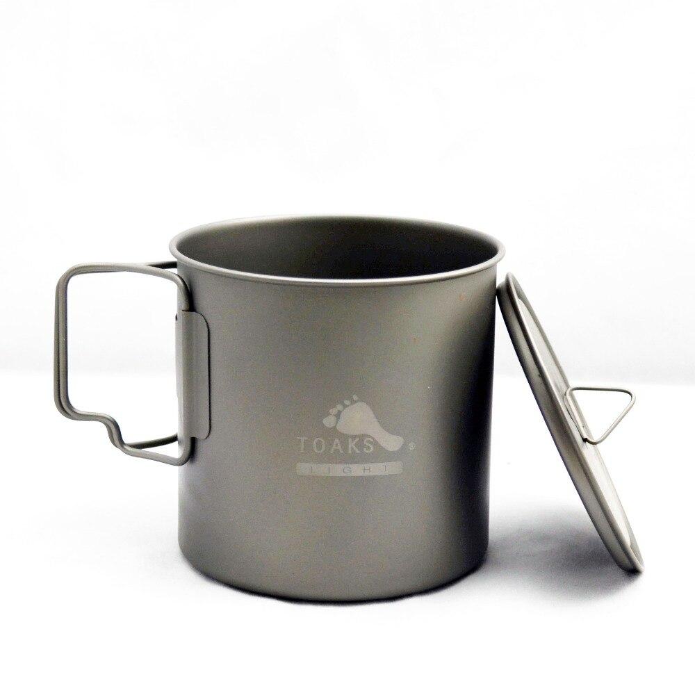 TOAKS POT-650-L Титан чашка 650 мл Открытый Кемпинга Легкие горшок Пикник набор посуды Пот Сверхлегкий Титан горшок