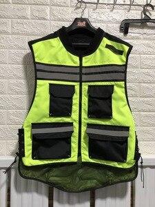 Image 1 - Motosiklet gece yansıtıcı yelek, güvenlik yeleği, erkek hi viz yansıtıcı yelek