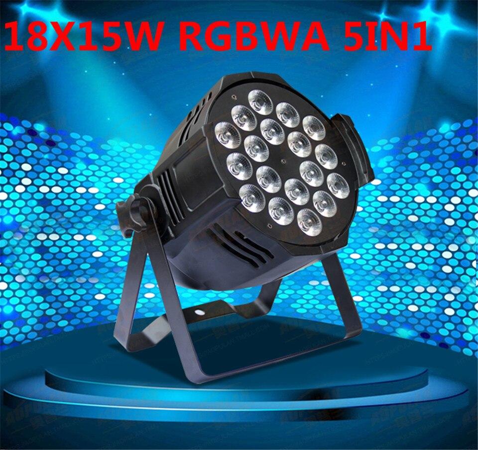 6 PZ 18x15 W Ha Condotto La Luce Par RGBWA 5in1CREE LED Par LED di Lusso DMX 8 Canali Tv Led Par Luci цена