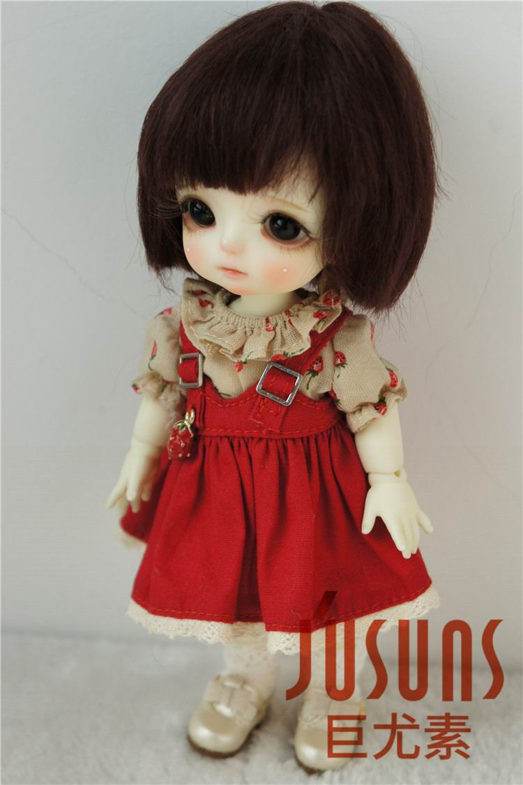 JD042 1/12 1/8 Қысқа кесу Mohair Doll шашты - Қуыршақтар мен керек-жарақтар - фото 6