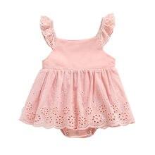 ab550e480f8b6 MUQGEW nouveau-né bébé fille robe enfant en bas âge bébé fille sans manches  solide fleur princesse barboteuse robe vêtements kiz.