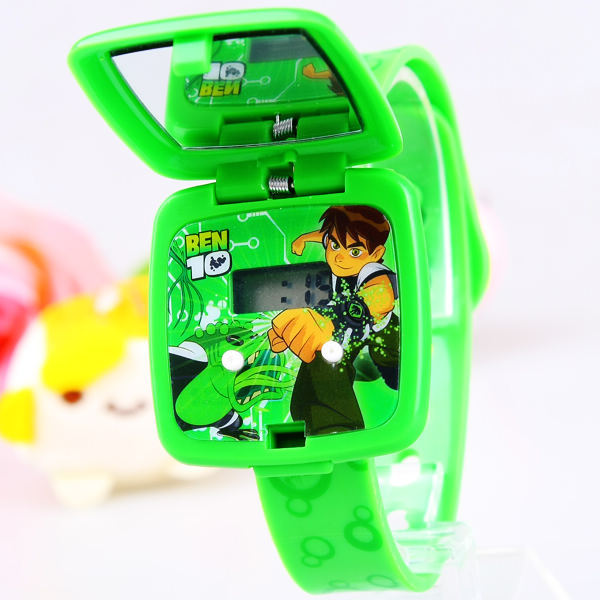 New Cartoon Children Sports Boys Square flip Mirror Child electronic Plastic Str