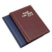 Coin-Holders Book Collection Storage-Money Album L109120 Penny-Pockets Color-Random
