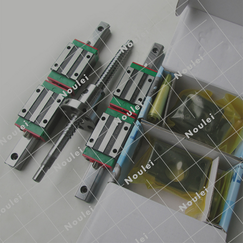 3 PCS SFU1605 ball screw +6 PCS HGR20 guide rail +12 PCS HGH20 slider for XYZ axis and its supporting products цена и фото