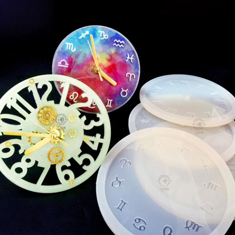 Silicone Mold 9.8cm Small Clock Resin Silicone Mould Handmade DIY Jewelry Making Epoxy Resin Molds