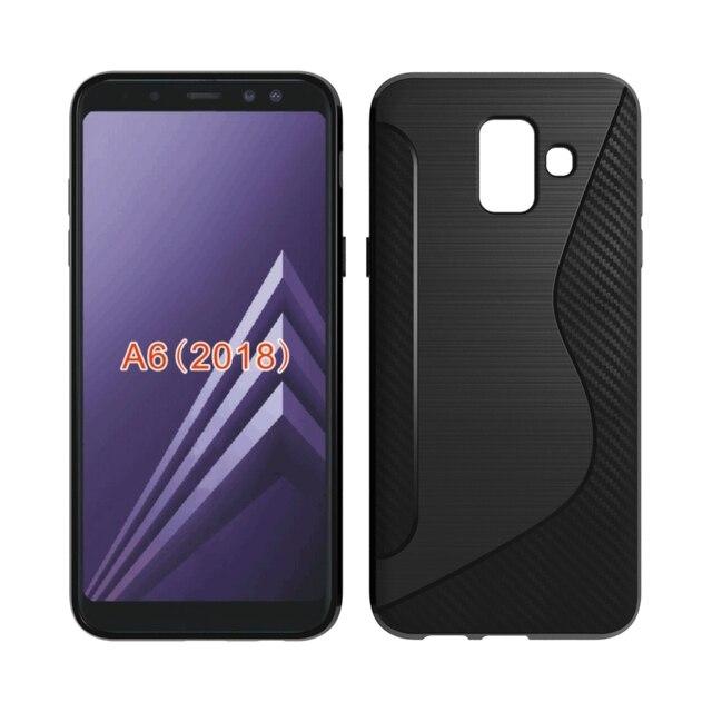 for samsung galaxy a6 2018 a600 soft case s line carbon fiber