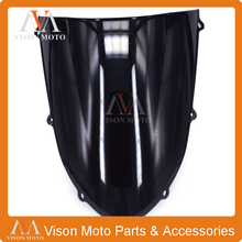 Motorcycle Winshield Windscreen For KAWASAKI ZX10R ZX-10R 2004 2005 BLACK 04 05