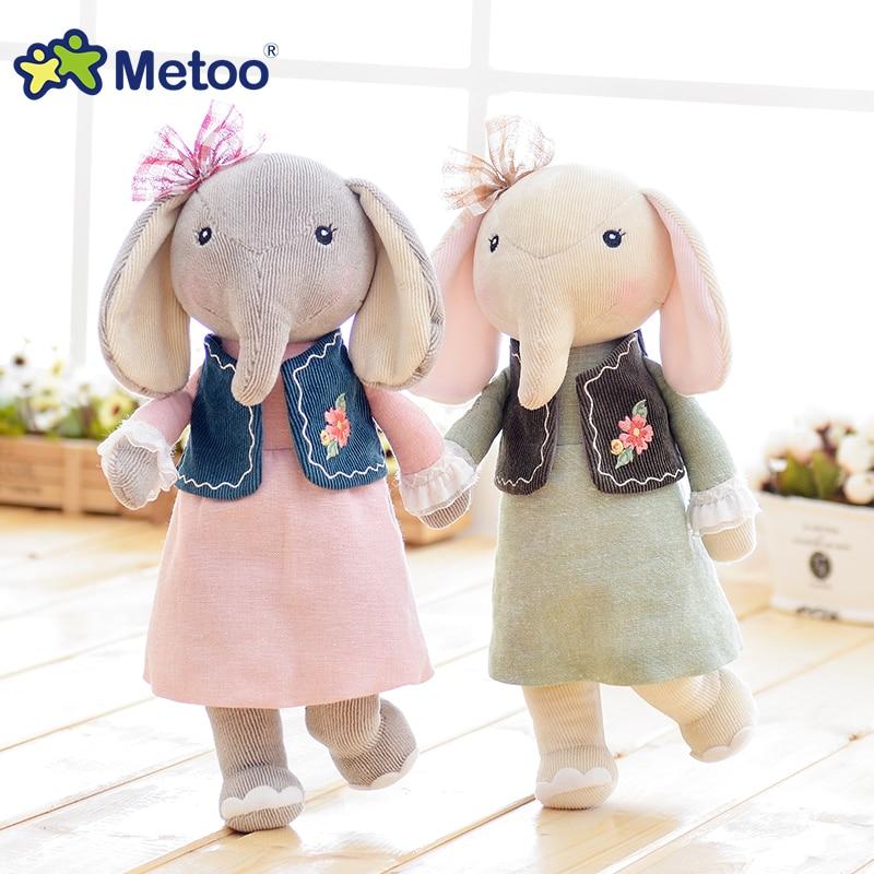 42cm 8 Colors Metoo Elephant Plush Dolls Cotton Fashion Sweet Cute Lovely Stuffed Baby Kids Toys Girls Birthday Christmas Gift
