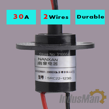 5pcs/pack  2Wires*30A wind turbine slip ring  ,wind generator slip ring  , Rotating Connector capsule slip ring
