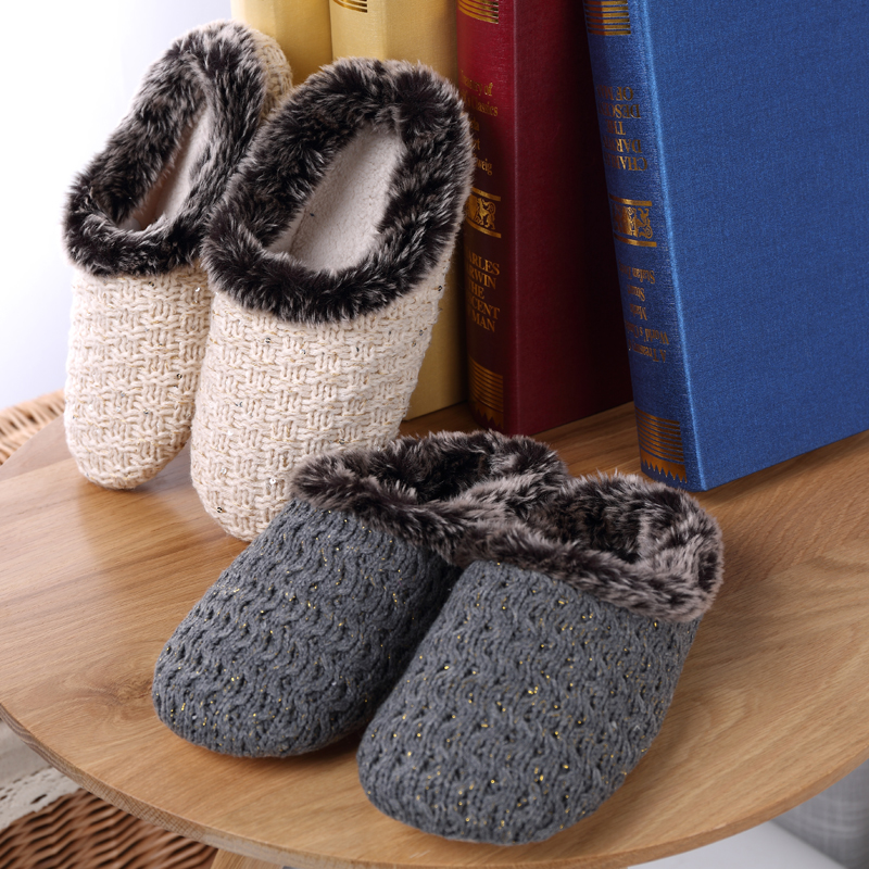 Women Shoes Winter Plush House Slippers Comfort Bling Wool Warm House Slippers Indoor Outdoor Slip On Couple Zapatillas Mujer
