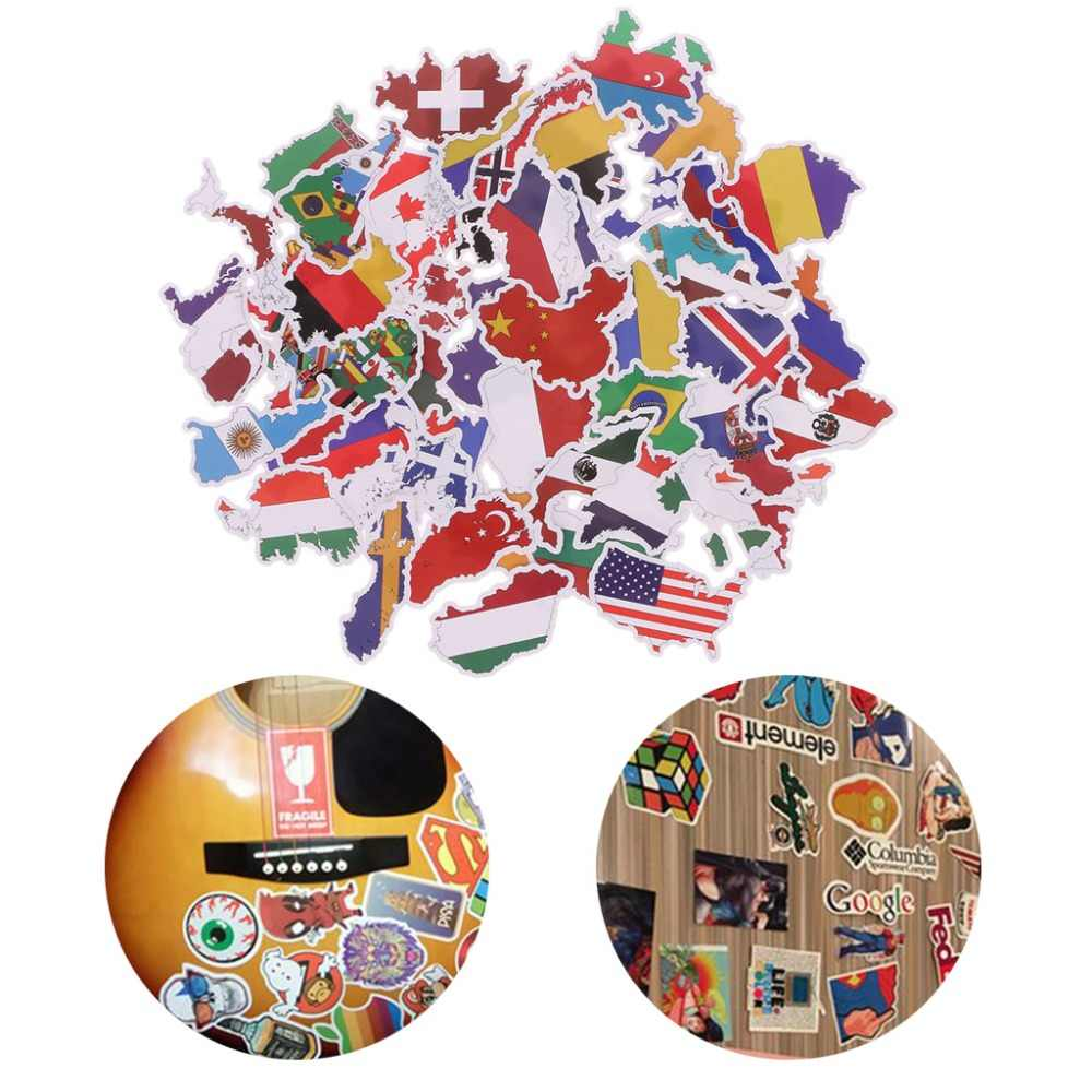 50X Nationale Vlaggen Stickers Speelgoed Landen Kaart Sticker Diy Scrapbooking Koffer