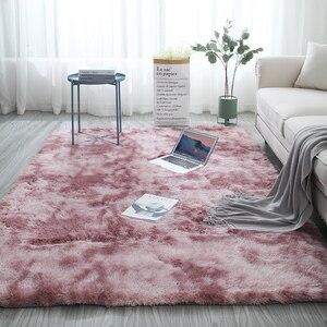 Скандинавский галстук-краситель ковер журнальный столик для гостиной спальни прикроватный коврик толщина 4 см Коврик для пола моющийся про...