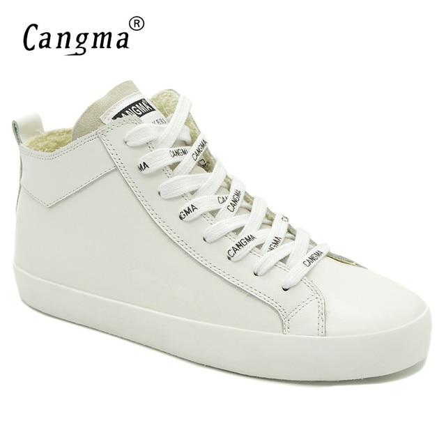 Cangma 이탈리아 디자이너 여성 캐주얼 신발 여성용 화이트 스니커즈 정품 가죽 신발 mid women footwear 여성 트레이너