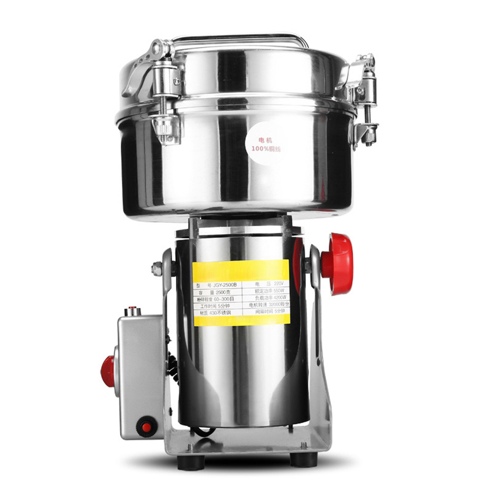 DMWD 800G/1000G/2500G Stainless Steel Electric Coffee Grinder 220V Grains Spices Herbal Cereals Mill Home Flour Powder Crusher