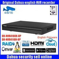 DAHUA smart NVR4108H-8P NVR4116H-8P onvif 8/16ch 1080 P netzwerk-videorecorder Unterstützung Multi-marke netzwerkkameras freies verschiffen