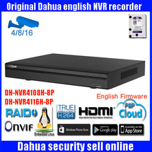 DAHUA smart NVR4108H-8P NVR4116H-8P onvif 8/16ch 1080P network video recorder Support Multi-brand network cameras free shipping