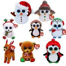 15CM Ty Original Beanie Boos Plush Reindeer Stuffed Animal Doll Big Eye  Kids Toy Soft Cute Birthday Gift 344a2be39772