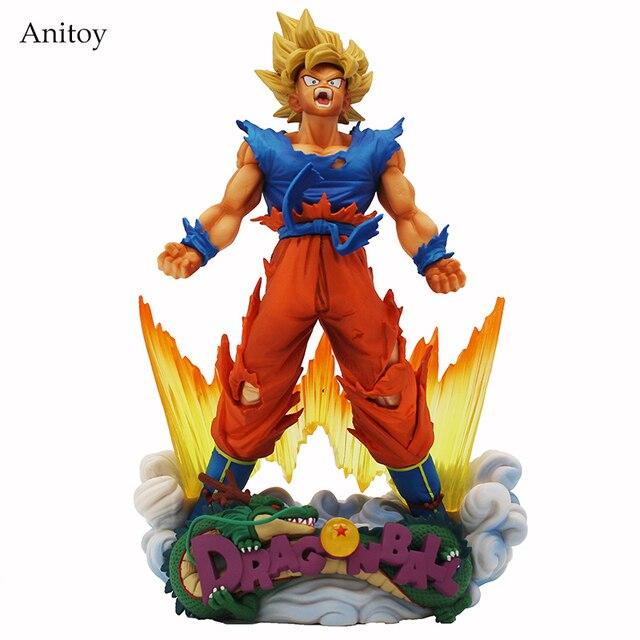 Figurine do Anime Dragon Ball Z Goku Figura de Ação Super Estrelas Mestre Diorama SMSD O Son Goku Brinquedo A Escova 23 cm KT4221