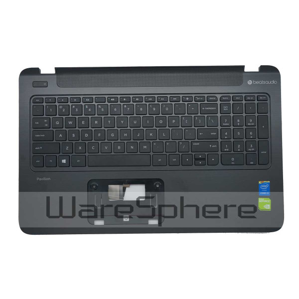 Top Cover Upper Case Palmrest with Keyboard for HP Pavilion 15-P 762529-001 Black laptop palmrest for hp pavilion 15 n000 15 n100 black with touch pad big enter 1a32h84006 95% new