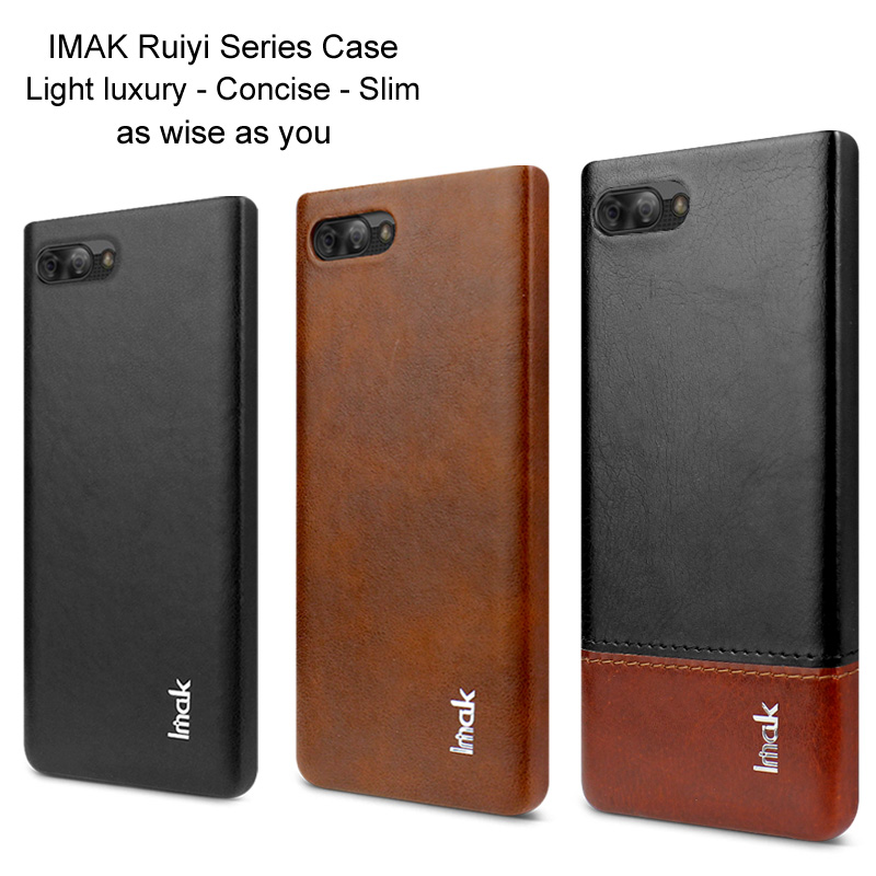 Imak Business Leather Back Cover for Blackberry Key 2 Key2 LE Shockproof Phone Shell For Blackberry BB Key 2 BB Key2 LE Fundas(China)
