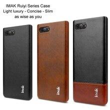 Imak Business Leather Back Cover for Blackberry Key 2 Key2 LE Shockproof Phone Shell For Blackberry BB Key 2 BB Key2 LE Fundas