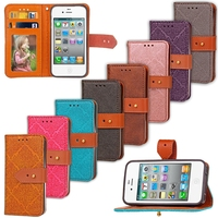 4S Flip Luxury Leather Wallet Case For iPhone 4 S 4S Phone Bag Cover Coque For iPhone4 iPhone4S i Phone 4 Stand Mobile Phone Bag